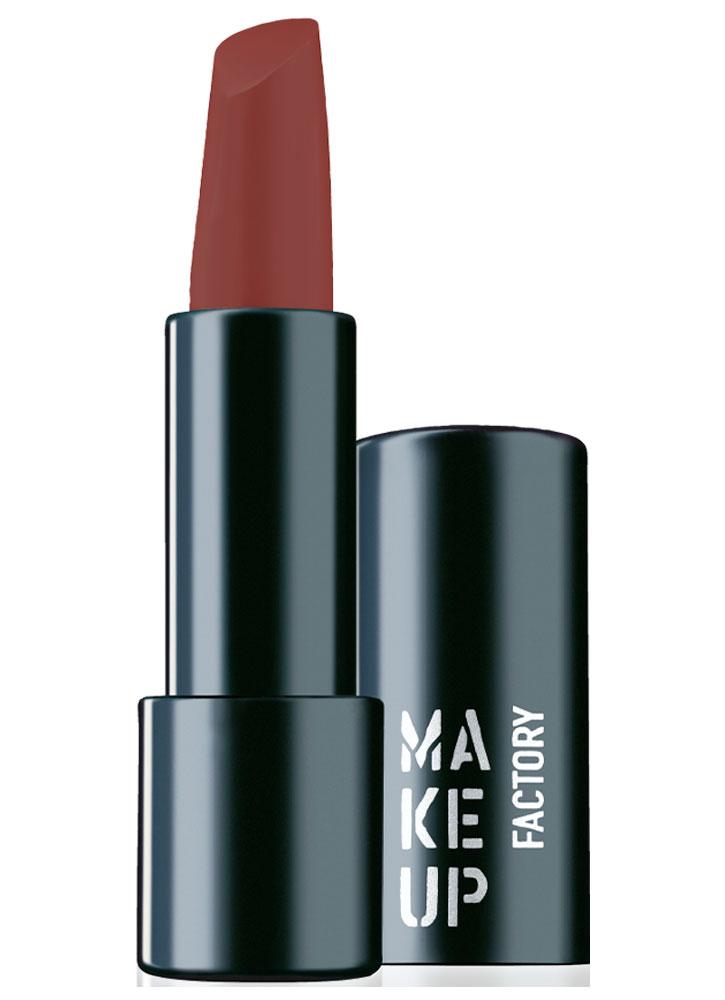 Помада для губ полуматовая Осенний коричневый MAKE UP FACTORY Magnetic Lips semi-mat & long-lasting фото
