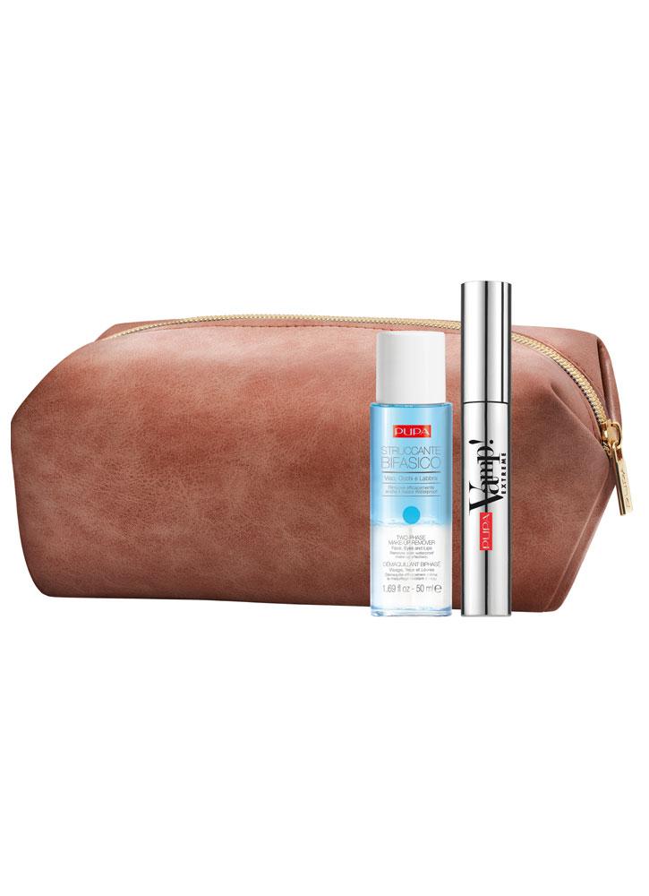 Купить Набор Тушь+Двухфазная жидкость для снятия макияжа PUPA, Vamp! Mascara Extreme & Two-phase Make-up Remover