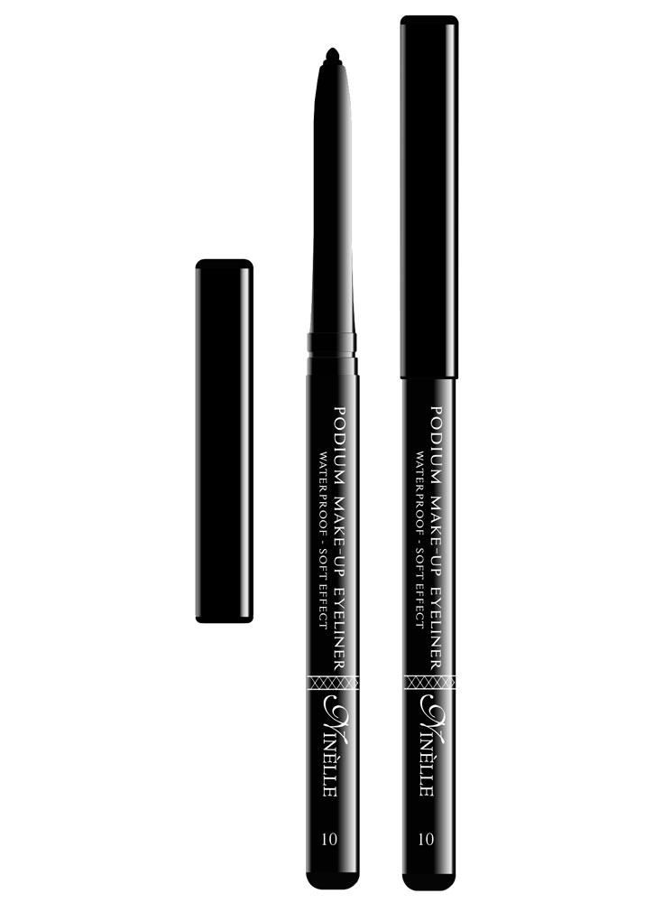 Карандаш для глаз водостойкий Podium Make-Up тон 10Карандаш для глаз<br>-Мягкая текстура водостойкого карандаша обеспечит идеальное нанесение и яркий насыщенный цвет. Карандашная линия фиксируется в течение 30-40 секунд, что позволит растушевать ее или подправить. Стойко держится на жирной коже и не растекается при контакте с водой. Подойдет как для естественного, так и для более яркого макияжа.<br><br>Цвет: Черный;