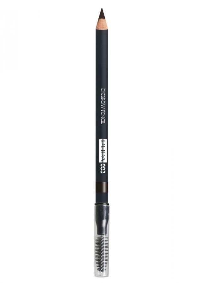 Карандаш для бровей Eyebrow Pencil тон 3 Темно-коричневыйКарандаш для бровей<br>Водостойкий карандаш для бровей Eyebrow Pencil идеально подчеркивает брови, создавая естественный макияж. Формула карандаша обеспечивает легкое нанесение и структурированную четкую линию, а также 100% защиту от влаги и воды. Специальная щеточка отлично растушевывает цвет и расчесывает брови.<br>Цвет: Темно-коричневый;