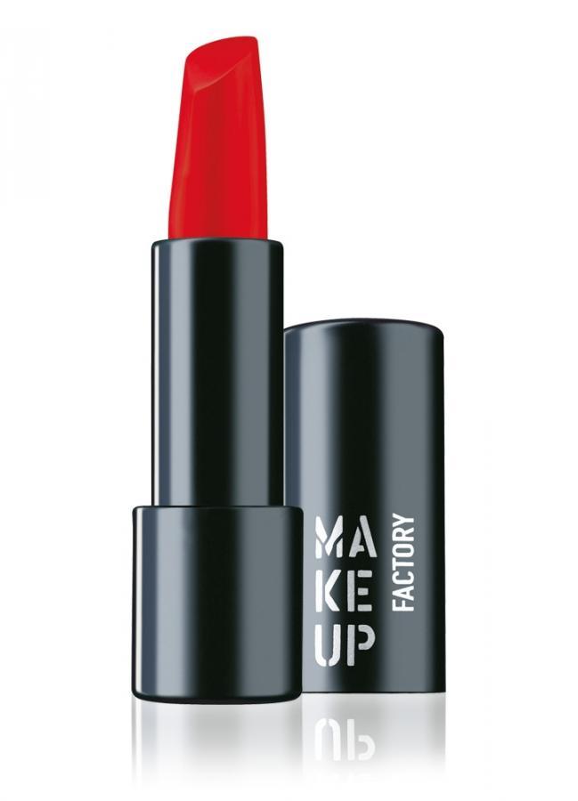 Помада для губ полуматовая Ярко-красный MAKE UP FACTORY Magnetic Lips semi-mat & long-lasting фото