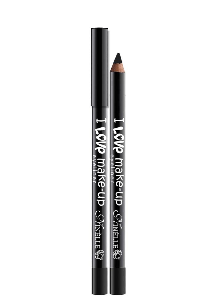 Карандаш для глаз I Love Make-Up тон 60 ЧерныйКарандаш для глаз<br>Текстура нового поколения для мягкого и легкого нанесения и для высокой устойчивости.<br>Цвет: Черный;