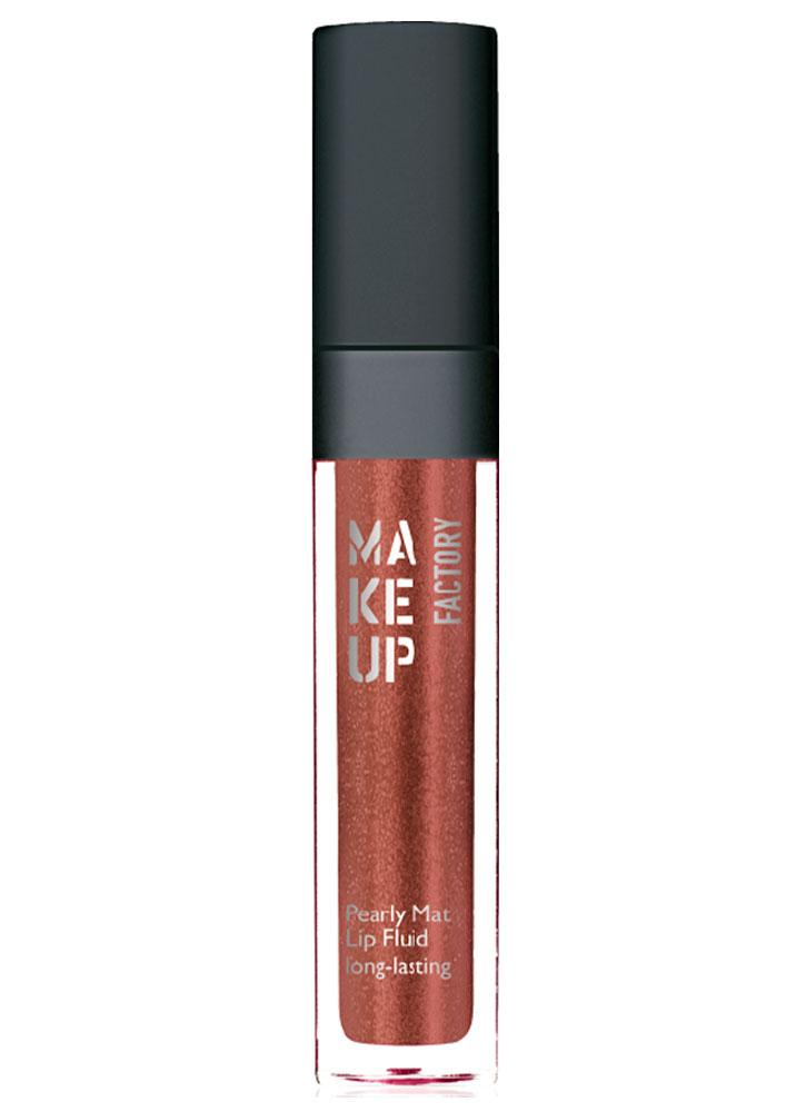 Купить Блеск-флюид с эффектом металлик Красно-коричневый MAKE UP FACTORY, Pearly Mat Lip Fluid long-lasting