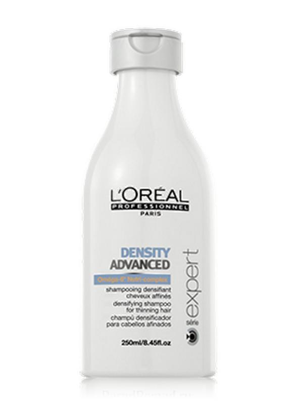 Шампунь укрепляющий Serie Expert Density Advanced 250 млШампуни<br>Шампунь для укрепления волос L&amp;#39;Oreal Professionnel Serie Expert Density Advanced Densifying Shampoo дарит вторую жизнь ослабленным и истонченным волосам. Укрепляющий шампунь стимулирует активность клеток волос, способствует их росту и обновлению, питает и укрепляет волосы, делая их гладкими и густыми. Благодаря использованию шампуня процесс выпадения волос значительно замедляется.<br>