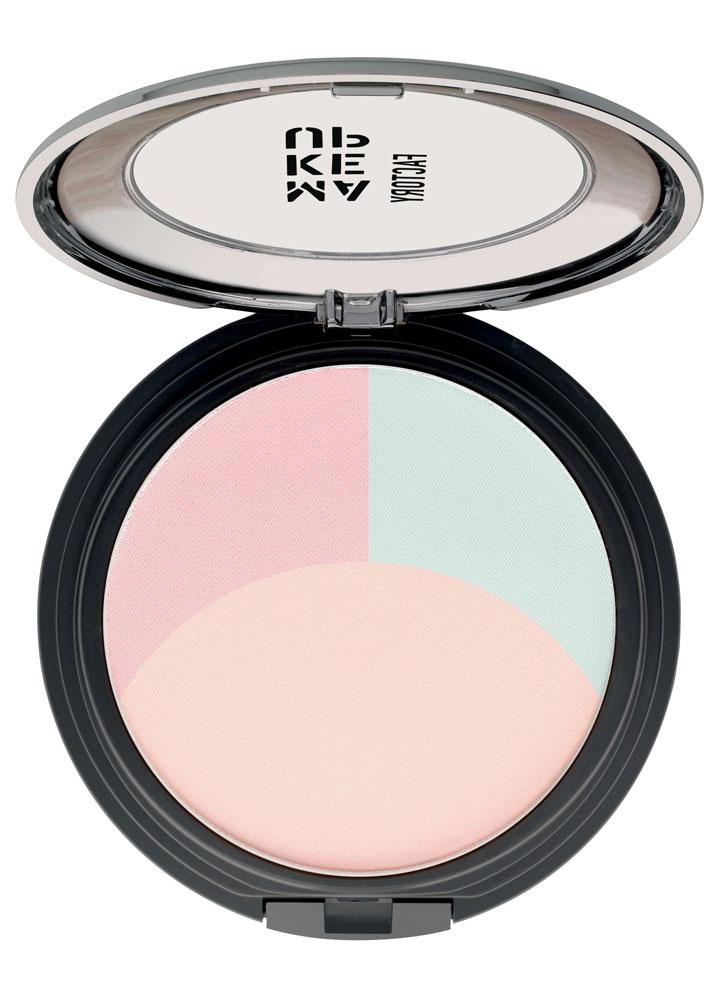 Пудра корректирующая цвет лица Ultrabalance Color Correcting Powder тон 01Пудра<br>-Уникальная пудра от Make Up Factory состоит из трех цветов: зеленый, розовый и бежевый. Такое сочетание позволяет выровнять цветовые различия в цвете кожи и замаскировать небольшие недостатки. Входящие в состав светоотражающие пигменты придают эффект естественной свежести. Пудра имеет мягкое покрытие и идеально подходит любому оттенку кожи. Также пудру можно использовать в качестве фиксирующей.<br>Цвет: Беж/терракот/зеленый;