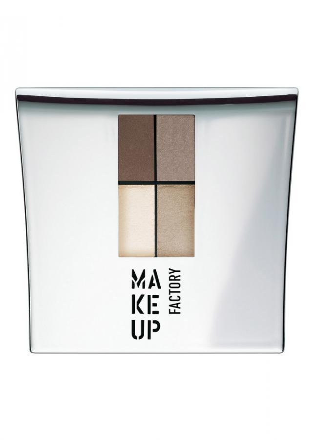 Тени для век четырехцветные Eye Colors тон 7 античная латунь/платина/серебро/бледное золотоТени для век<br>Eye Colors представляет собой комплект из четырех сбалансированных оттенков теней для век. Невероятно мягкая текстура теней обеспечивает легкое нанесение, отличную растушевку, а гамма оттенков идеально подходит для любого вида макияжа.Практичную&amp;nbsp;&amp;nbsp;удобную&amp;nbsp;&amp;nbsp;упаковку с зеркалом и аппликатором всегда удобно взять с собой.<br>Цвет: античная латунь/платина/серебро/бледное золото;