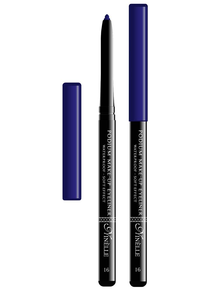 Карандаш для глаз водостойкий Podium Make-Up тон 16Карандаш для глаз<br>-Мягкая текстура водостойкого карандаша обеспечит идеальное нанесение и яркий насыщенный цвет. Карандашная линия фиксируется в течение 30-40 секунд, что позволит растушевать ее или подправить. Стойко держится на жирной коже и не растекается при контакте с водой. Подойдет как для естественного, так и для более яркого макияжа.<br><br>Вес ГР: 0,35; Цвет: Небесно синий;