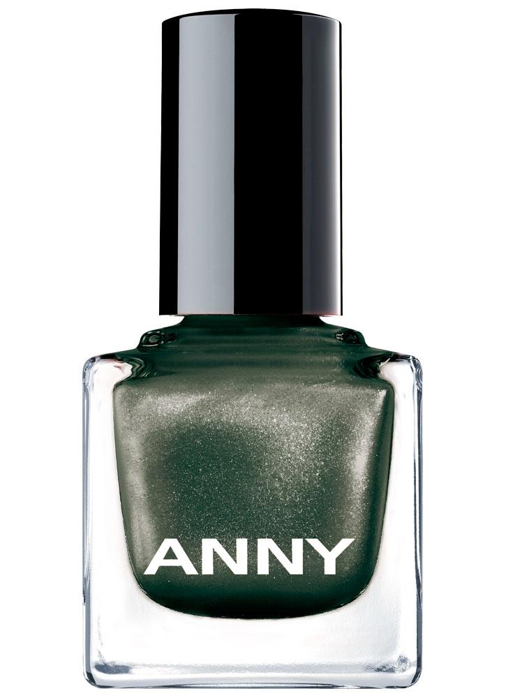 Лак для ногтей Темно зеленый с искрой ANNY Shades фото