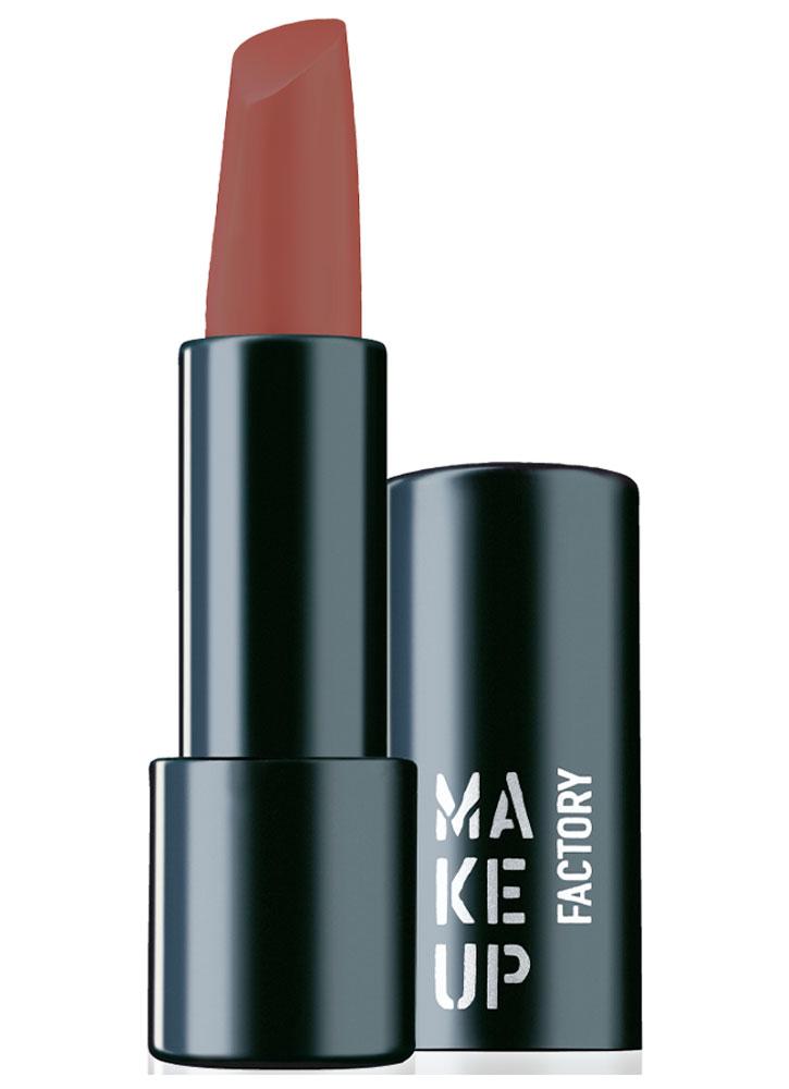 Помада для губ полуматовая Очаровательный коричневый MAKE UP FACTORY Magnetic Lips semi-mat & long-lasting фото