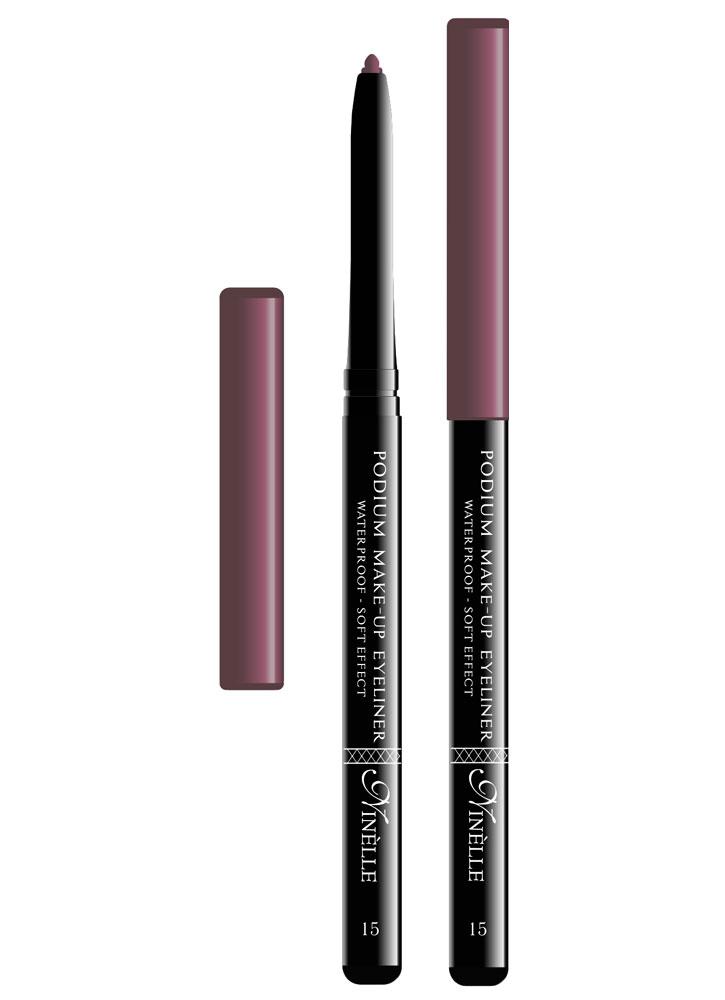 Карандаш для глаз водостойкий Podium Make-Up тон 15Карандаш для глаз<br>-Мягкая текстура водостойкого карандаша обеспечит идеальное нанесение и яркий насыщенный цвет. Карандашная линия фиксируется в течение 30-40 секунд, что позволит растушевать ее или подправить. Стойко держится на жирной коже и не растекается при контакте с водой. Подойдет как для естественного, так и для более яркого макияжа.<br><br>Цвет: Бордовый;