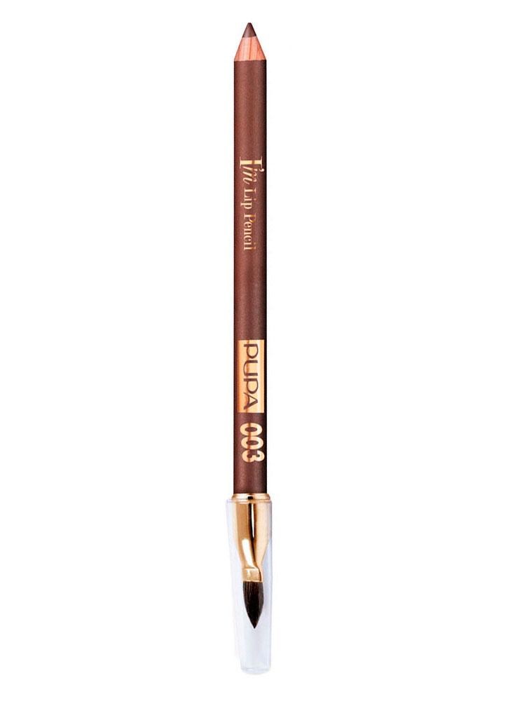 Карандаш для губ IM Lip Pencil тон 003Карандаш для губ<br>-Новый карандаш для губ от PUPA с мягкой, гладкой и комфортной текстурой. Он легко наносится и растушевывается, создавая насыщенный и стойкий цвет. Кремовая формула продукта обогащена миксом специальных пигментов, которые дают идеально интенсивный цвет и сочетанием восков и масел с увлажняющими и смягчающими свойствами. <br><br>Цвет: Насыщенный коричневый;