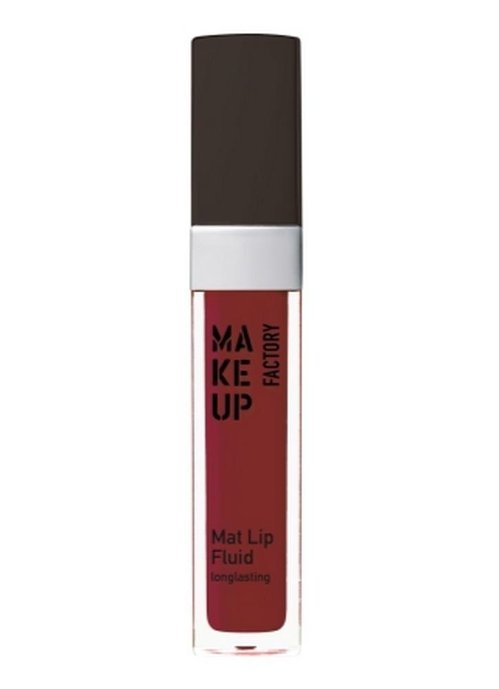 Помада для губ жидкая матовая Лесная ягода MAKE UP FACTORY Mat Lip Fluid longlasting фото