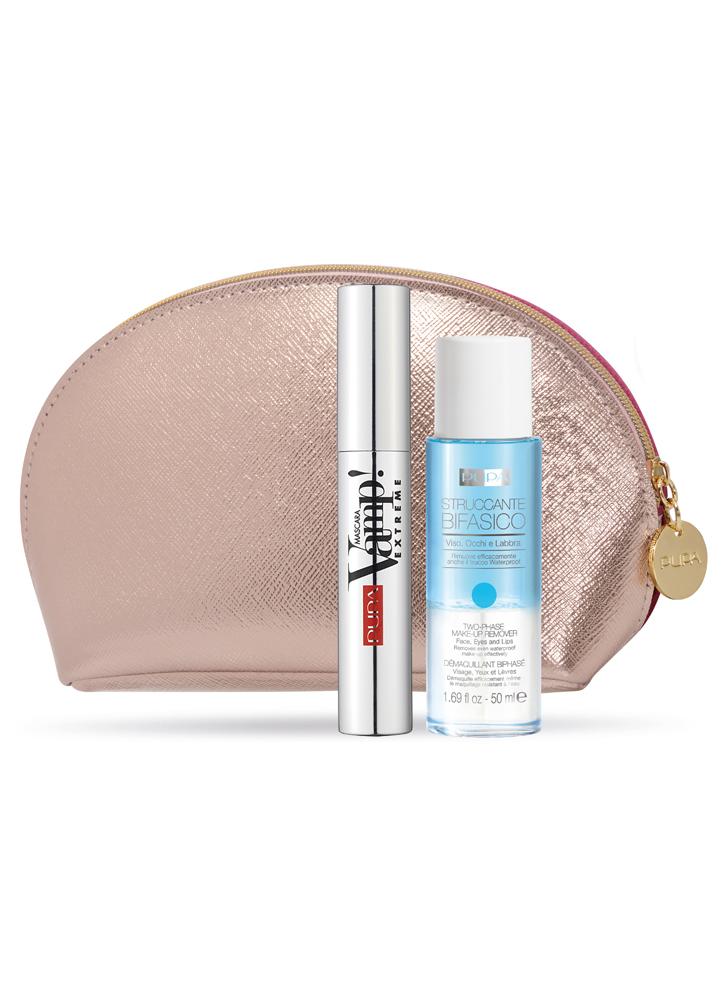 Набор тушь VAMP! Extreme+жидкость для снятия макияжа Make Up RemoverНаборы<br>Набор, состоящий из туши Vamp! Extreme и жидкости для снятия макияжа, в красивой и вместительной косметичке.<br>