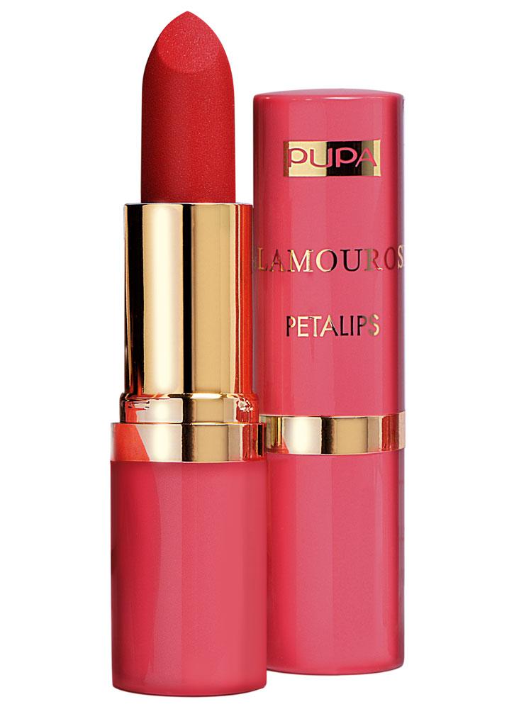 Помада для губ матовая невесомая Искушающий красный PUPA Glamourose Petalips фото