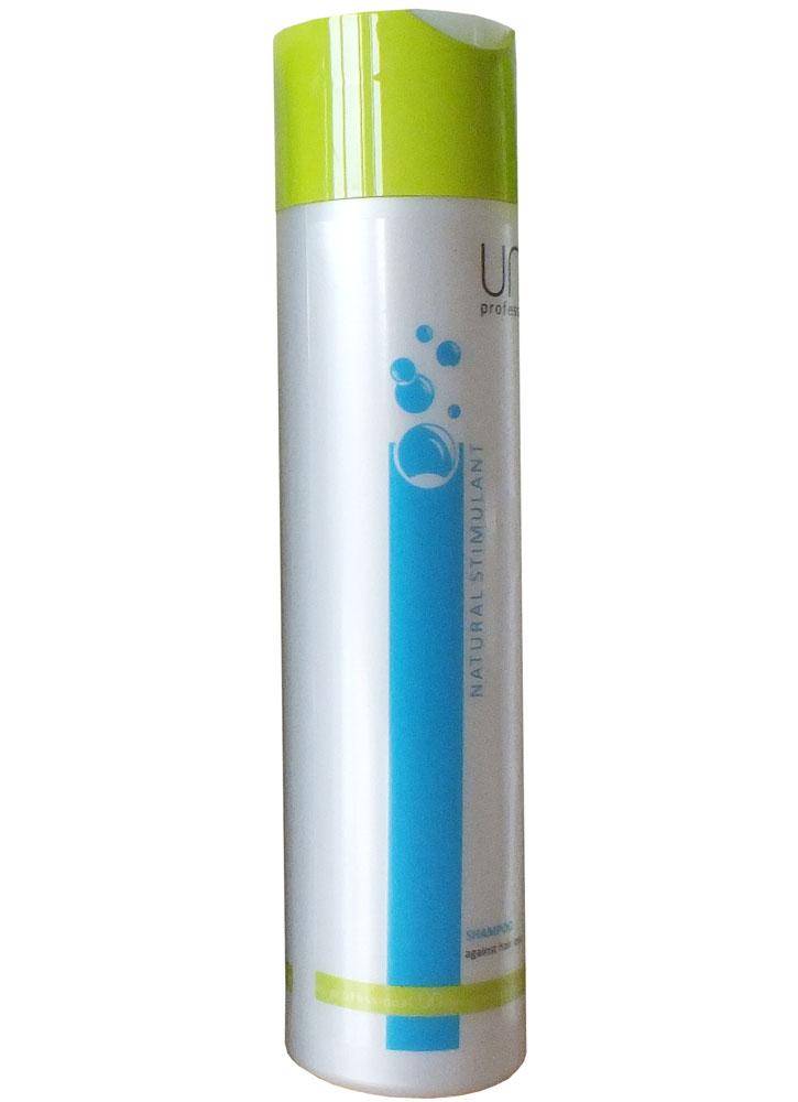Шампунь против выпадения волос марки Natural Stimulant  250 млШампуни<br>Нарушение кровообращения и функции сальных желез кожи головы наряду с сезонностью и агрессивным воздействием внешних факторов являются основной причиной ухудшения роста и обильного выпадения волос.<br>Комплекс тщательно подобранных активных компонентов стимулирует клеточный метаболизм, улучшает оксигенацию и ускоряет капиллярное кровообращение кожи головы. <br>