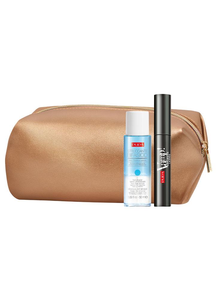 Купить Набор Тушь+Двухфазная жидкость для снятия макияжа PUPA, Vamp! Mascara Explosive Lashes & Two-phase Make-up Remover, Италия