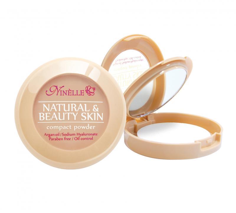 Пудра компактная Natural &amp; Beauty Skin тон 33 Нежный персикПудра<br>Невероятная стойкость в течение 8 часов! Устойчивая компактная пудра Natural&amp;Beauty Skin обладает нежной, шелковистой текстурой и ложится на лицо, словно вторая кожа. Пудра идеально выравнивает тон и текстуру кожи, скрывает недостатки, абсорбирует излишки жира. Теперь Вы можете быть уверены: Ваш макияж останется безупречным при любых испытаниях!<br>Цвет: Нежный персик;