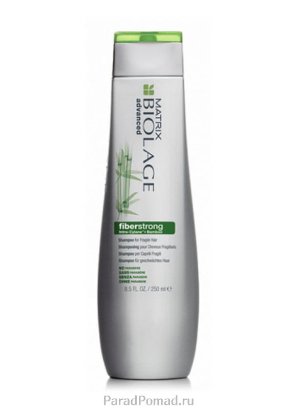 Шампунь для укрепления ломких и ослабленных волос Biolage Fiberstrong Shampoo 250 млШампуни<br>Шампунь Biolage FIBERSTRONG™, содержащий молекулу INTRA-CYLANE™, экстракт бамбука и керамиды. Укрепляет ослабленные, поврежденные волосы.<br>