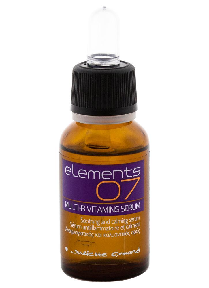 Сыворотка с витаминами В5 и В6 Multi-B Vitamins Serum 20 млСыворотка<br>Рекомендуется после пилингов, при выраженном покраснении кожи &amp;#40;эритема локальная, диффузная&amp;#41;, при дерматитах, себорейном дерматите, куперозе и для ежедневного ухода за кожей с повышенной чувствительностью. Сыворотка обладает выраженным противовоспалительным, регенерирующим и заживляющим действием, предотвращает обезвоживание кожи.<br>