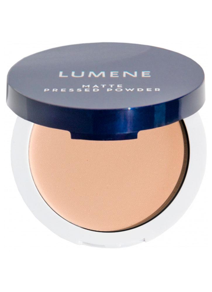 Пудра для лица матирующая компактная Персиковый LUMENE Matte pressed powder фото
