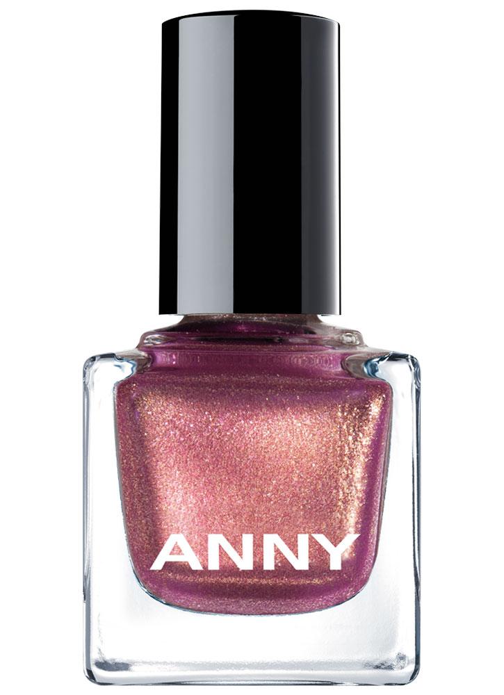 Купить Лак для ногтей Сиреневый с золотым мерцанием ANNY, Shades, Германия