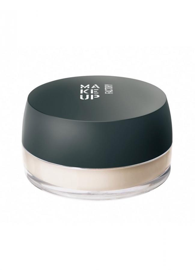Пудра для лица рассыпчатая фиксирующая Fixing PowderПудра<br>Рассыпчатая бесцветная пудра Fixing Powder с воздушной легкой текстурой придает естественный вид коже и надежно фиксирует макияж. Пудра не закупоривает поры и прекрасно абсорбирует излишки кожного жира . Рассыпчатая пудра - лучший вариант для фиксации макияжа и придания коже свежести, особой мягкости и бархатистости.<br>