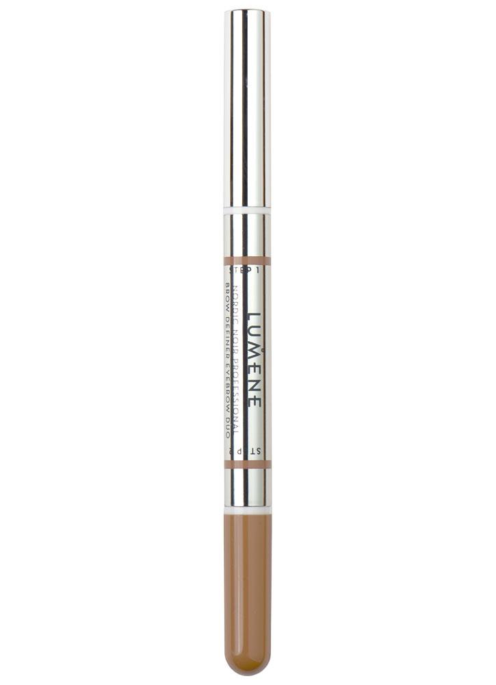 Професиональное средство для создания формы бровей Professional Brow Definer Eyebrow Duo Nordic Luxe тон 3Карандаш для бровей<br>-<br>Цвет: Красное дерево;