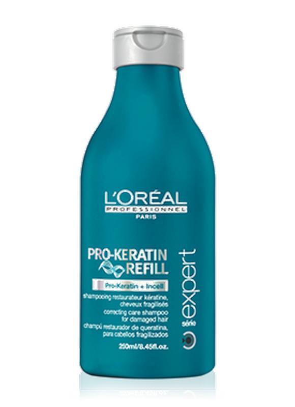 Шампунь Serie Expert Pro-Keratin Refill 250 млШампуни<br>КОРРЕКТИРУЮЩИЙ УХАЖИВАЮЩИЙ ШАМПУНЬ ДЛЯ ПОВРЕЖДЕННЫХ ВОЛОС бережно очищает волосы, делая их мягкими и послушными.<br>