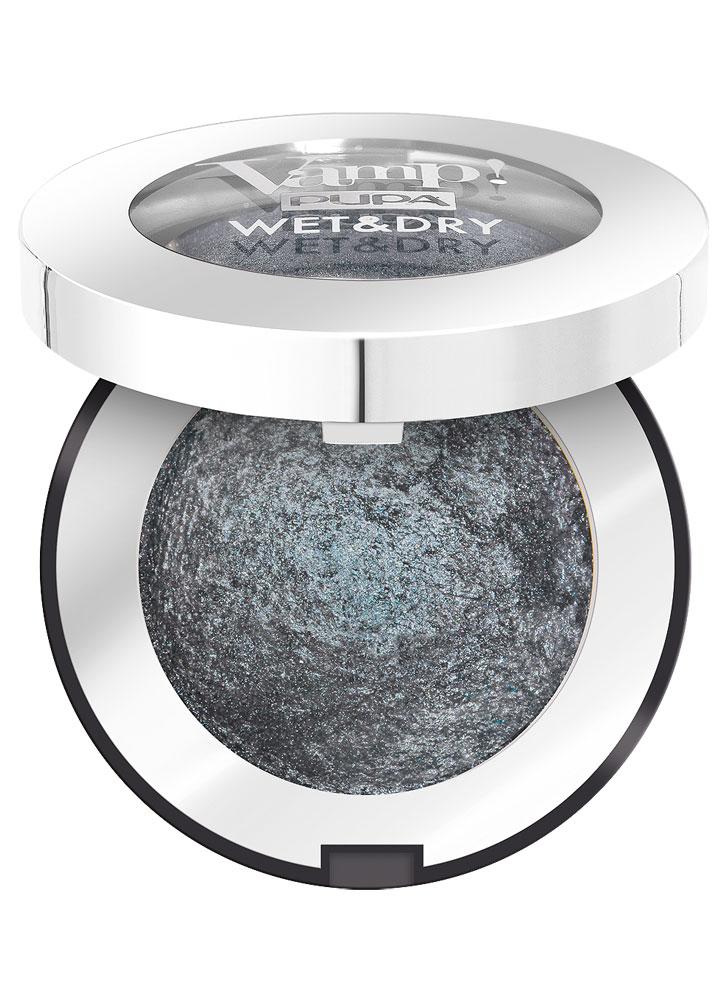 Тени для век запеченные Антрацитовый серый PUPA Vamp! WET&DRY фото