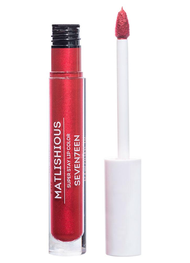 Купить Помада-блеск для губ жидкая Красный с искрой SEVENTEEN, MATLISHIOUS SUPER STAY LIP COLOR, Греция