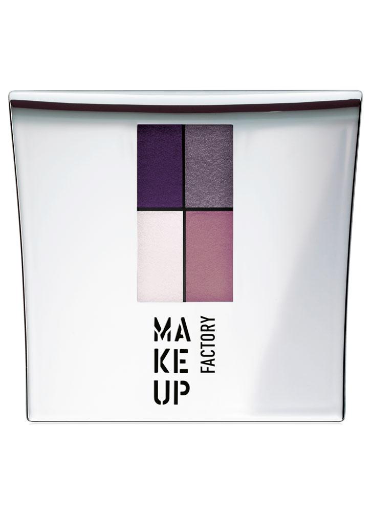 Тени для век баклажан/золотая сирень, винный/светло-розовый MAKE UP FACTORY Eye Colors фото