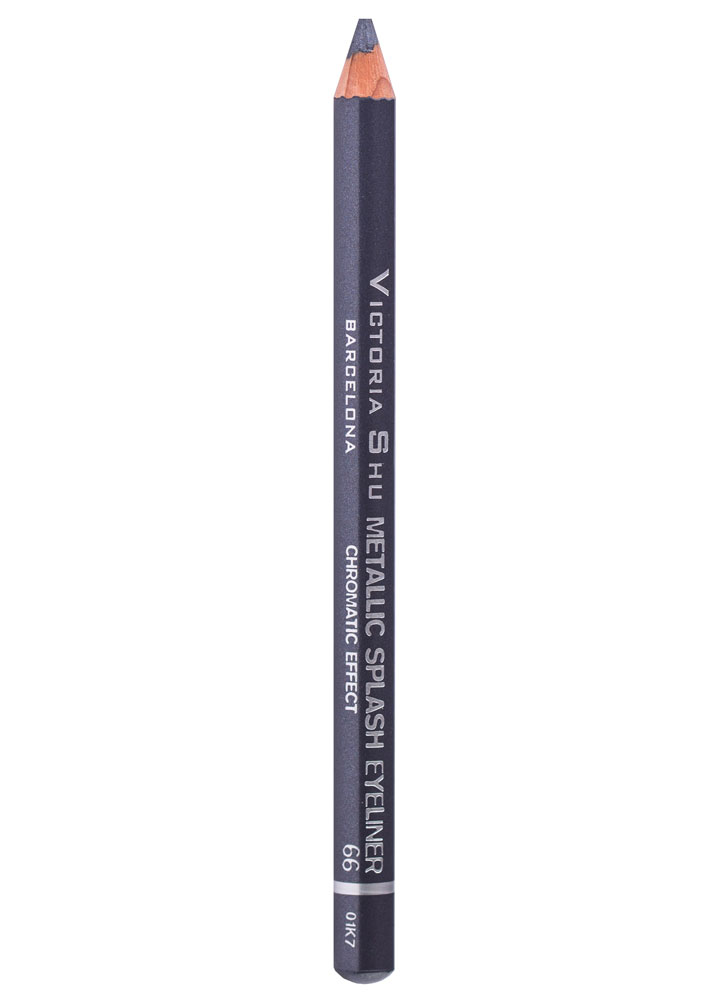 Карандаш для глаз Фиолетово-серый VICTORIA SHU Metallic Splash фото