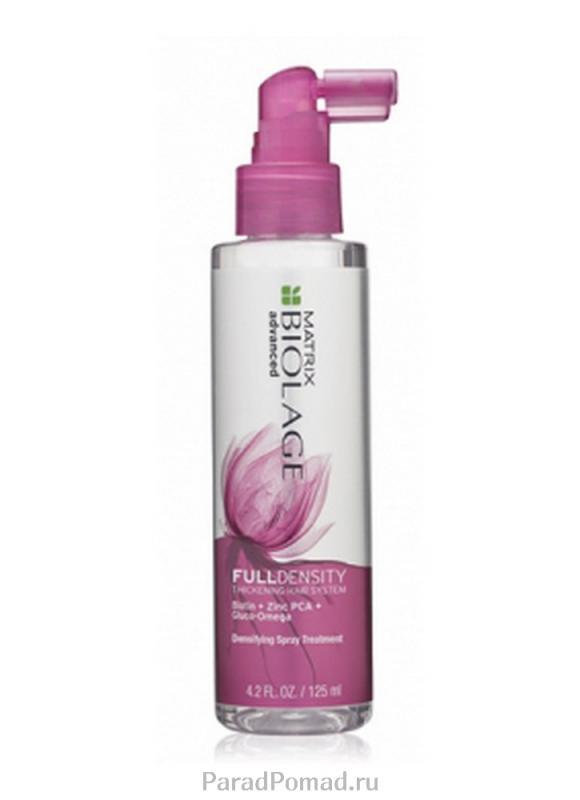 Спрей уплотняющий для тонких волос Biolage Full Density 125 млСпрей<br>Спрей-уход Biolage Fulldensity™ мгновенно придает толщину волокнам волоса, увеличивая их диаметр. Без парабенов.<br>