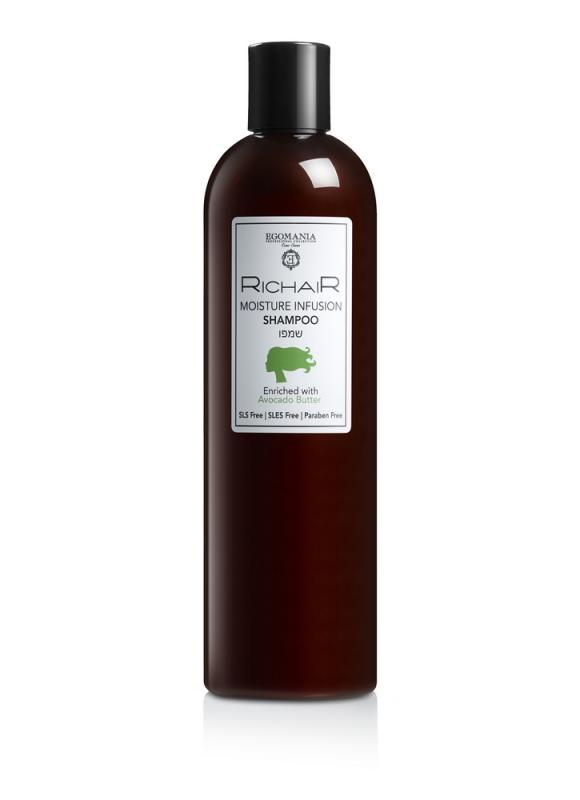 EGOMANIA Шампунь Richair интенсивное увлажнение с маслом авокадо 400 мл