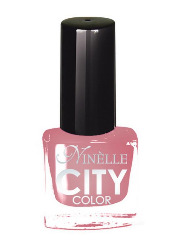 Лак для ногтей City Color тон 150 Нежно-розовыйЛак для ногтей<br>Новейшие тенденции маникюра и потребности современных женщин вдохновили марку Ninelle на создание новой коллекции лаков для ногтей CITY COLOR от NinelleФормула уникальна и безупречна: лак быстро сохнет, гарантирует идеальную цветопередачу и потрясающий блеск, а также непревзойденную стойкость. Лак для ногтей City color выравнивает поверхность ногтя, делая его идеально гладким и безупречно глянцевым. Высокая концентрация пигментов и новая кисть заметно упростили маникюрную процедуру - лаки теперь можно наносить одним слоем. Удобная кисточка поможет распределить лак быстро и с максимальной точностью, что позволяет равномерно нанести лак даже на короткие ногти. Богатая цветовая гамма позволяет выбрать прекрасный вариант для любого повода. В состав входят ухаживающие компоненты, предотвращающие повреждения ногтей. И еще одно удобство для жительниц мегаполисов - лак снимается настолько легко, что его можно менять так часто, как Вы пожелаете. Подходит для натуральных и искусственных ногтей.<br>Цвет: Нежно-розовый;