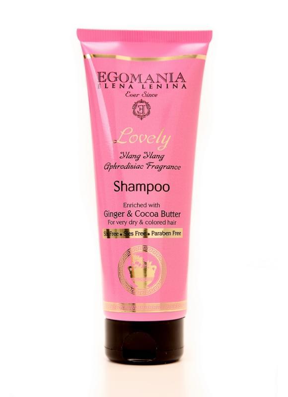Шампунь с имбирем и маслом какао для пересушенных и окрашенных волос 250 млШампуни<br>Шампунь с имбирем и маслом какао подходит для химически поврежденных, окрашенных, блондированных и термически подверженных волос. Состав шампуня богат маслами, экстрактами и витаминами - этот фито-коктейль нежно очищает и одновременно питает структуру волос, придает силу и блеск.<br>