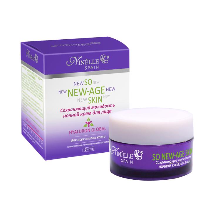 NINELLE Крем для лица ночной сохраняющий молодость So New-Age Skin 50 мл