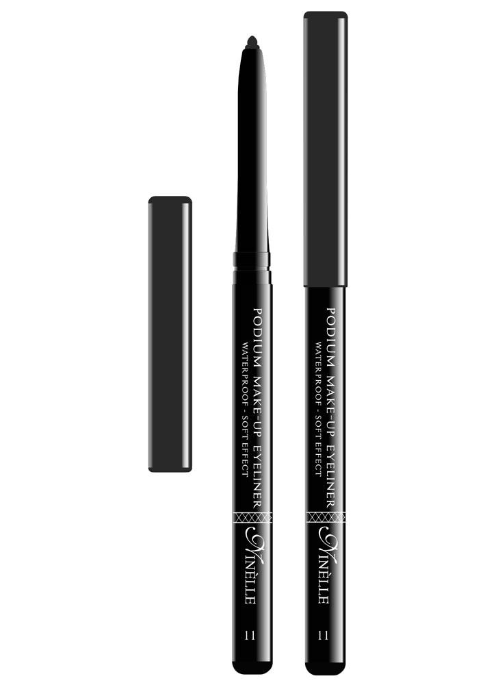 Карандаш для глаз водостойкий Podium Make-Up тон 11Карандаш для глаз<br>-Мягкая текстура водостойкого карандаша обеспечит идеальное нанесение и яркий насыщенный цвет. Карандашная линия фиксируется в течение 30-40 секунд, что позволит растушевать ее или подправить. Стойко держится на жирной коже и не растекается при контакте с водой. Подойдет как для естественного, так и для более яркого макияжа.<br><br>Цвет: Серый;