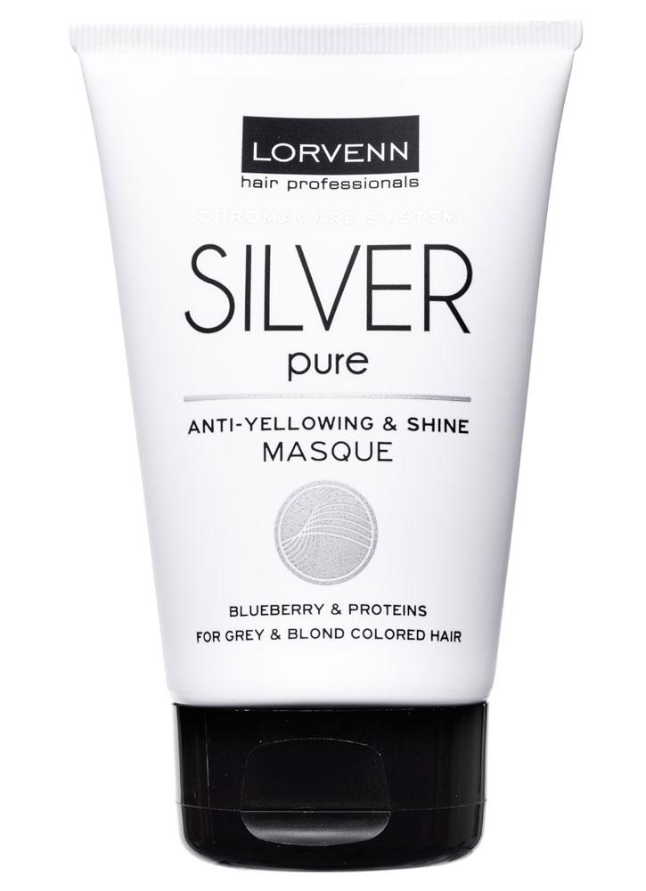 Маска для для седых, блондинистых, окрашенных, осветленных волосволос LORVENN, Silver Pure Masque, Греция  - Купить