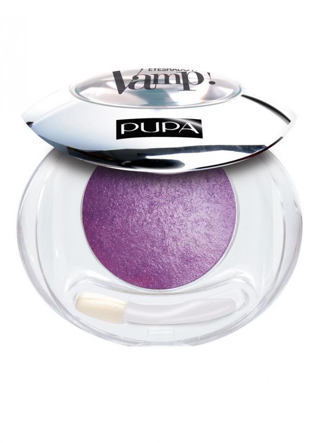 PUPA Тени для век запеченные VAMP! Wet&Dry Eyeshadow тон 105 Фиолетовый сатиновый