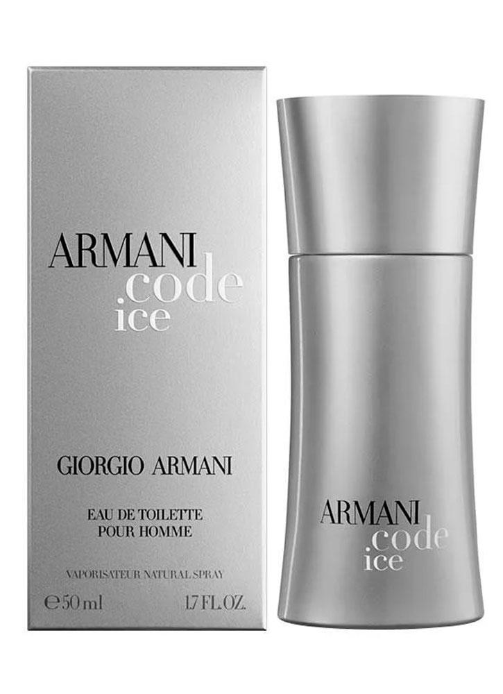 Туалетная вода Armani Code Ice муж.Мужская<br>-Аромат для мужчин Armani Code Ice подобен восточной мелодии, которая оставляет после себя чувственное ощущение волшебства. Насыщенный и бодрящий аромат наполнен свежестью цитрусов и сладостью специй.<br>