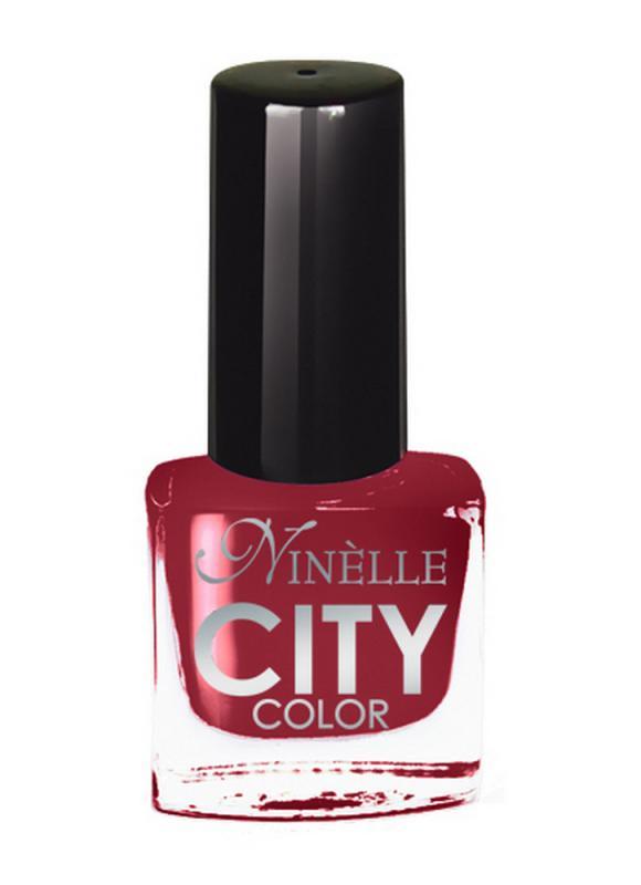 Лак для ногтей City Color тон 170 Рубиновый красныйЛак для ногтей<br>Новейшие тенденции маникюра и потребности современных женщин вдохновили марку Ninelle на создание новой коллекции лаков для ногтей CITY COLOR от NinelleФормула уникальна и безупречна: лак быстро сохнет, гарантирует идеальную цветопередачу и потрясающий блеск, а также непревзойденную стойкость. Лак для ногтей City color выравнивает поверхность ногтя, делая его идеально гладким и безупречно глянцевым. Высокая концентрация пигментов и новая кисть заметно упростили маникюрную процедуру - лаки теперь можно наносить одним слоем. Удобная кисточка поможет распределить лак быстро и с максимальной точностью, что позволяет равномерно нанести лак даже на короткие ногти. Богатая цветовая гамма позволяет выбрать прекрасный вариант для любого повода. В состав входят ухаживающие компоненты, предотвращающие повреждения ногтей. И еще одно удобство для жительниц мегаполисов - лак снимается настолько легко, что его можно менять так часто, как Вы пожелаете. Подходит для натуральных и искусственных ногтей.<br>Цвет: Рубиновый красный;