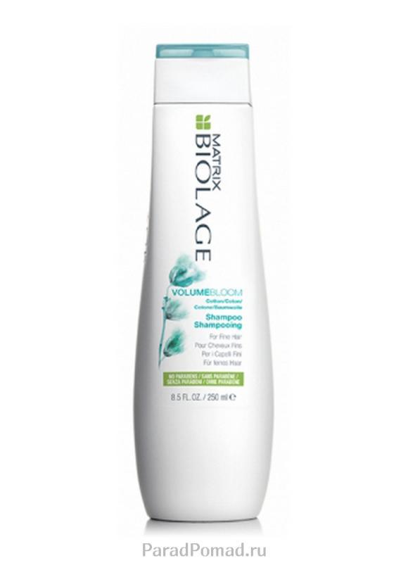 Шампунь для придания объема тонким волосам Biolage Volumebloom Shampoo 250 млШампуни<br>Шампунь Biolage VOLUMEBLOOM™ приподнимает волосы, обеспечивая длительный, упругий объем.<br>