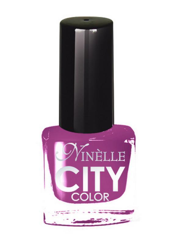 Лак для ногтей City Color тон 154 Цветок aуксииЛак для ногтей<br>Новейшие тенденции маникюра и потребности современных женщин вдохновили марку Ninelle на создание новой коллекции лаков для ногтей CITY COLOR от NinelleФормула уникальна и безупречна: лак быстро сохнет, гарантирует идеальную цветопередачу и потрясающий блеск, а также непревзойденную стойкость. Лак для ногтей City color выравнивает поверхность ногтя, делая его идеально гладким и безупречно глянцевым. Высокая концентрация пигментов и новая кисть заметно упростили маникюрную процедуру - лаки теперь можно наносить одним слоем. Удобная кисточка поможет распределить лак быстро и с максимальной точностью, что позволяет равномерно нанести лак даже на короткие ногти. Богатая цветовая гамма позволяет выбрать прекрасный вариант для любого повода. В состав входят ухаживающие компоненты, предотвращающие повреждения ногтей. И еще одно удобство для жительниц мегаполисов - лак снимается настолько легко, что его можно менять так часто, как Вы пожелаете. Подходит для натуральных и искусственных ногтей.<br>Цвет: Цветок aуксии;