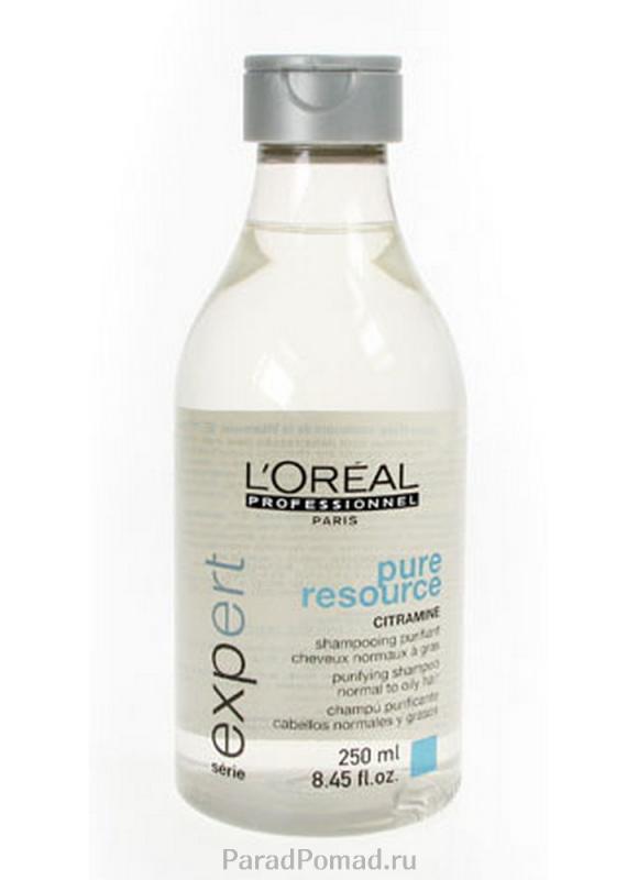 LOREAL PROFESSIONNEL Шампунь очищающий для жирных волос Expert Pure Resource 250 мл
