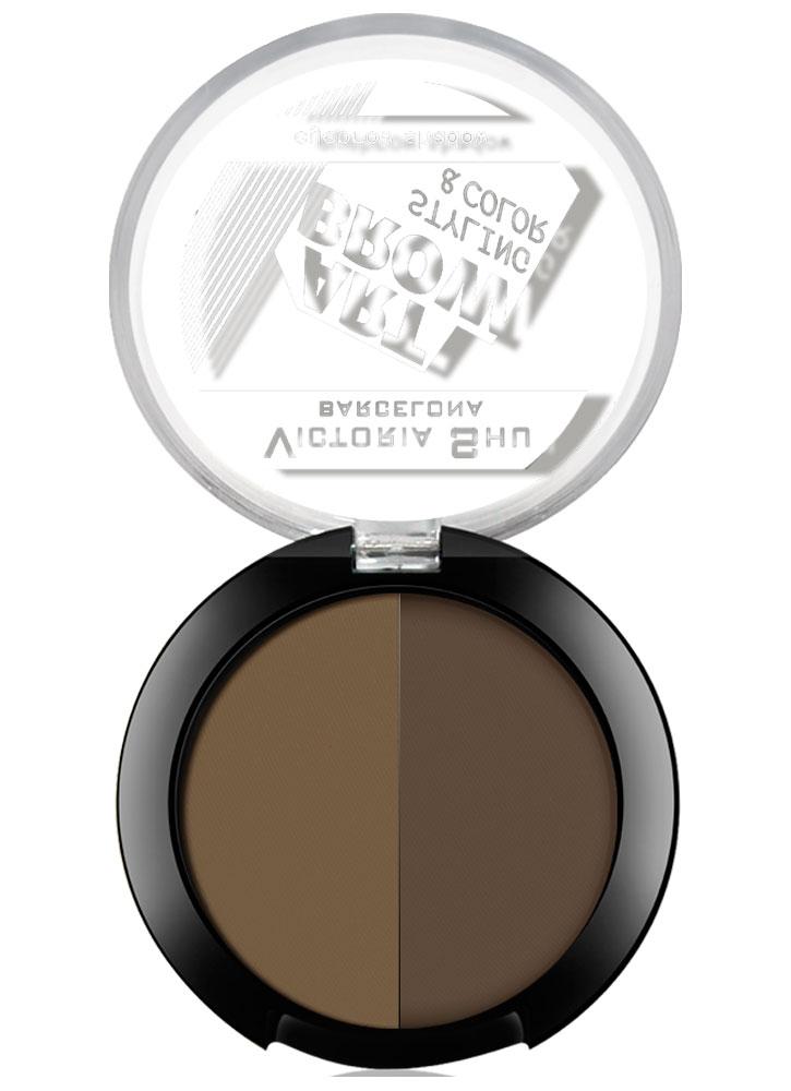 Тени для бровей Eye Brow Shadow Art Brow тон 102Пудра для бровей<br>-<br>Цвет: Темно-коричневый;