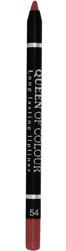 Карандаш для губ Queen Of Colour тон 54 КоралловыйКарандаш для губ<br>Потрясающий контур - роскошные губы! Контурный карандаш для губ Queen Of Colour – это пять насыщенных и стойких оттенков, которые сделают образ притягательным и ярким. Теперь ни у кого не оставляя сомнений в красоте ваших губ. Абсолютно матовая, шелковистая и мягкая текстура изготовлена по принципу губной помады. Поэтому карандаш легко скользит по контуру губ, эффектно его подчеркивает и делает макияж максимально стойким в течение всего дня. Специальные насыщенные цветовые пигменты придают оттенкам роскошные насыщенные цвета, которые остаются на губах неизменными в течение всего дня. Карандаш выполнен в пластиковом, легко затачивающемся корпусе.<br>Цвет: Коралловый;