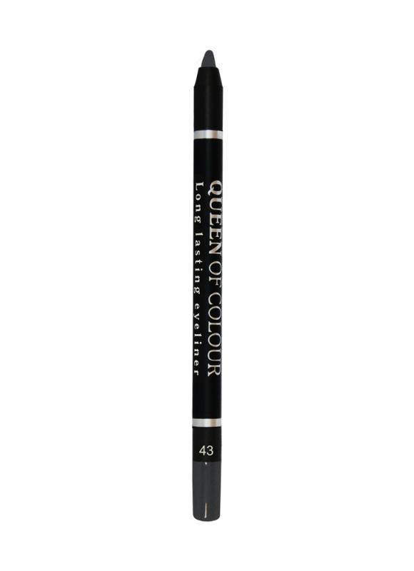 Карандаш для глаз Queen Of Colour тон 43 Темно-серебристыйКарандаш для глаз<br>Контурный карандаш для глаз Queen Of Colour - это кремовая текстура &amp;#43; 100% устойчивость. Высокая концентрация пигментов создает насыщенный цвет, который делает образ более ярким и индивидуальным. Таким карандашом можно выполнить как дневной, так и вечерний макияж. 5 ярких сатиновых насыщенных оттенков сделают контур глаз более выразительным, а макияж стойким.<br>Цвет: Темно-серебристый;