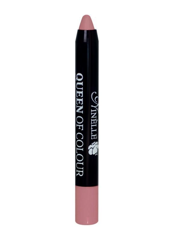 Помада для губ Queen Of Colour тон 101 Натурально-розовыйПомада для губ<br>Превратите ваши губы в объект желания с новой губной помадой QUEEN OF COLOUR! Никогда еще цвет не был таким восхитительным и насыщенно-ярким. Ее захочется наносить на губы снова и снова. Специальная технология производства автоматической помады– карандаша превращает обычные оттенки в невероятные, вкусные, сочные цвета. Губы заметно более чувственные, на 50% более гладкие и в 5 раз более увлажненные. Новая матовая текстура моделирует и повторяет каждый изгиб губ, обеспечивая точное комфортное нанесение за счет структурирующих пигментов и тонкого грифеля. Она обеспечивает губам безупречную стойкость цвета и блеска, и остается неощутимой на протяжении длительного времени. Теперь ты соответствуешь всем модным тенденциям с новой элегантной и удобной упаковкой!<br>Цвет: Натурально-розовый;