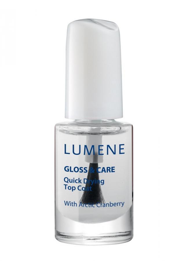 LUMENE Быстросохнущее покрытие для закрепления лака 3 в 1 Quick Drying Top Coat Gloss  Care